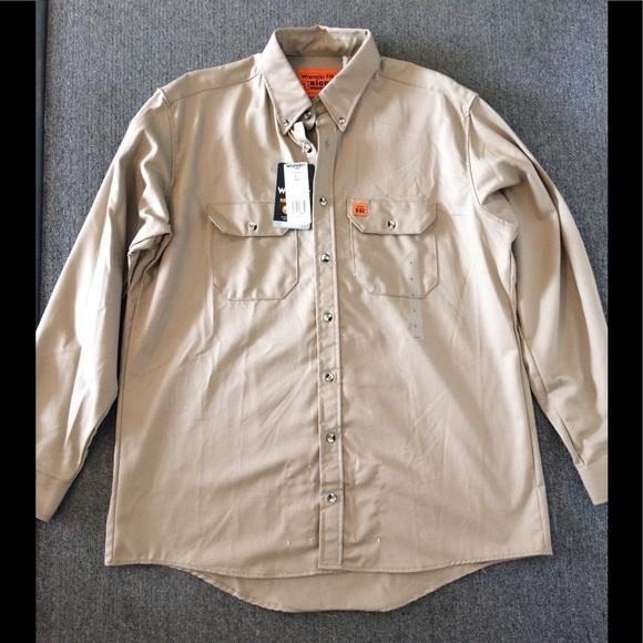 522c957a39e1 Tan Riggs Workwear shirt jacket FR flame resistant. NWT. Wrangler
